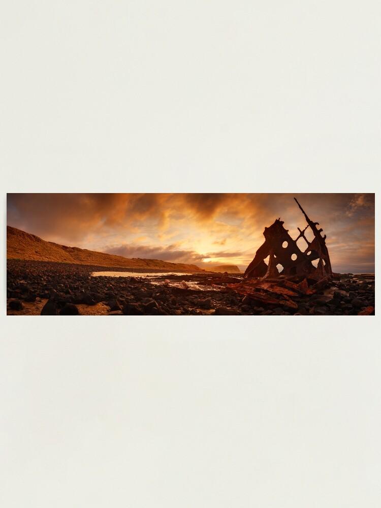 Alternate view of Speke Wreck, Phillip Island, Victoria, Australia Photographic Print