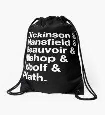 Notable female writers Drawstring Bag