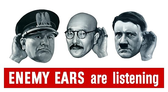 Enemy Ears Are Listening -- WWII Propaganda by warishellstore