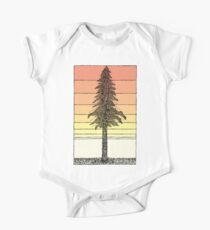 Coastal Redwood Sunset Sketch One Piece - Short Sleeve