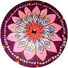 Spiral Flower Mandala by MizMeliz