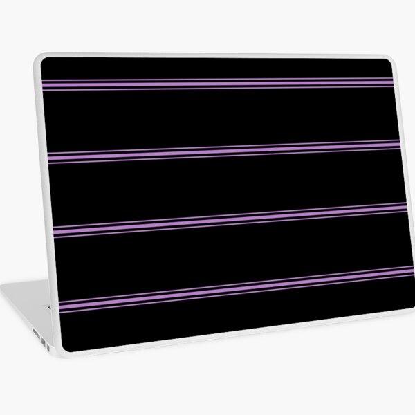 Black and violet stripes Laptop Skin