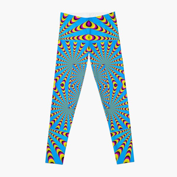 Blue optical illusions colour Leggings
