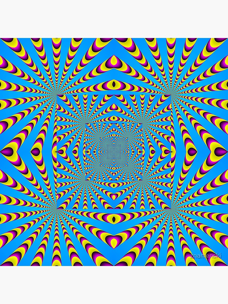 Blue optical illusions colour by znamenski