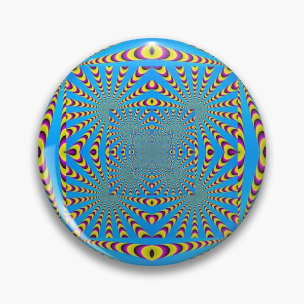 Blue optical illusions colour Pin