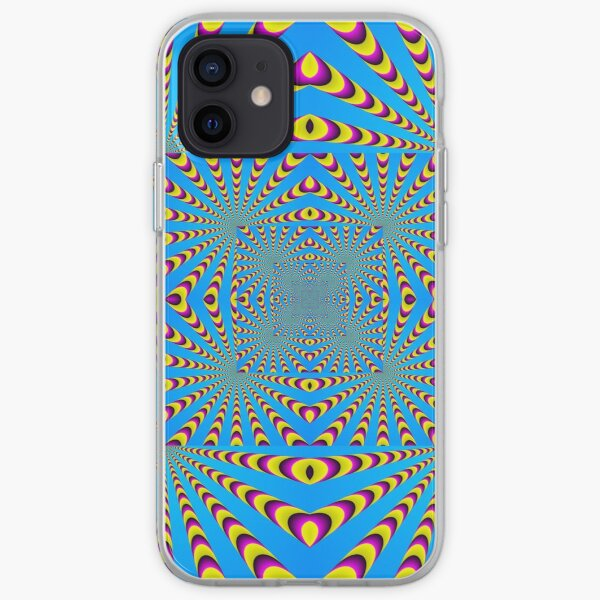 Blue optical illusions colour iPhone Soft Case