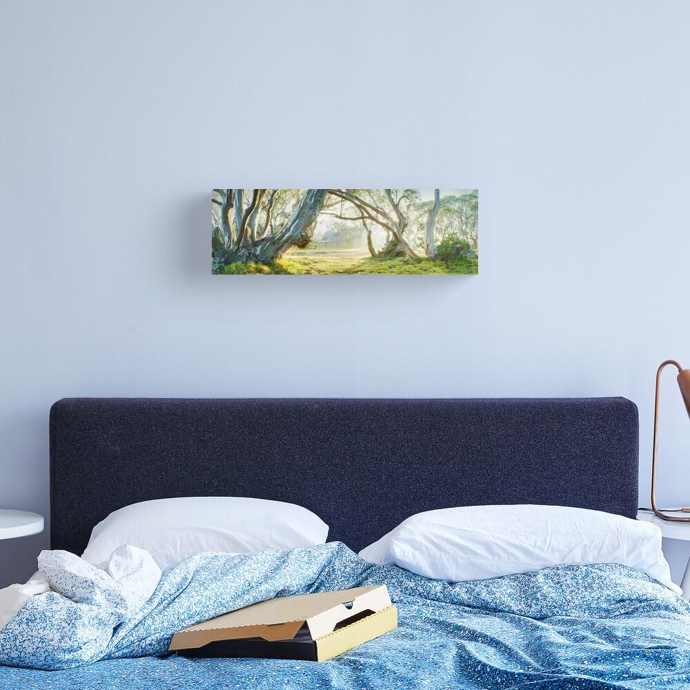 Foggy Wallace Hut, Falls Creek, Victoria, Australia Canvas Print