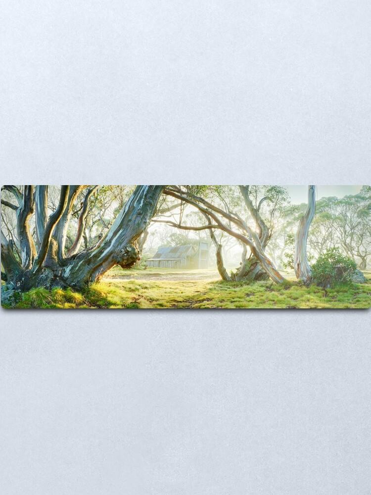 Alternate view of Foggy Wallace Hut, Falls Creek, Victoria, Australia Metal Print