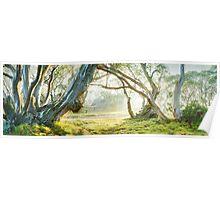Foggy Wallace Hut, Falls Creek, Victoria, Australia Poster