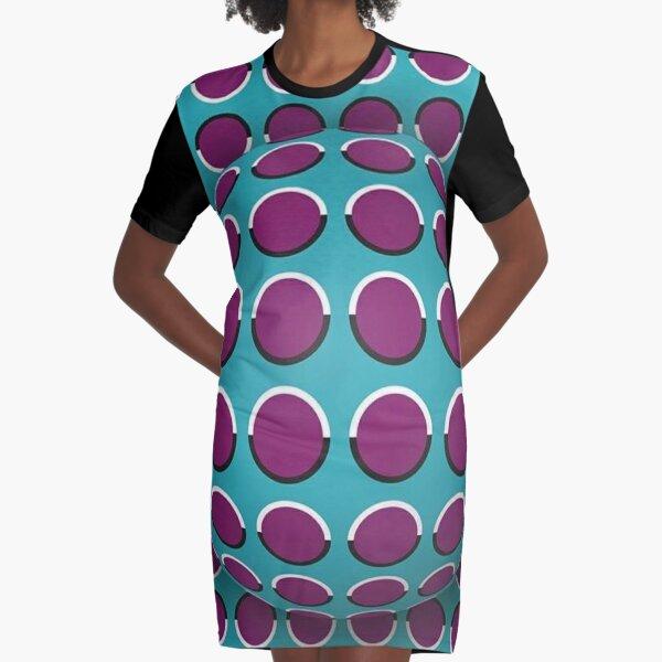 Visual Illusion Graphic T-Shirt Dress