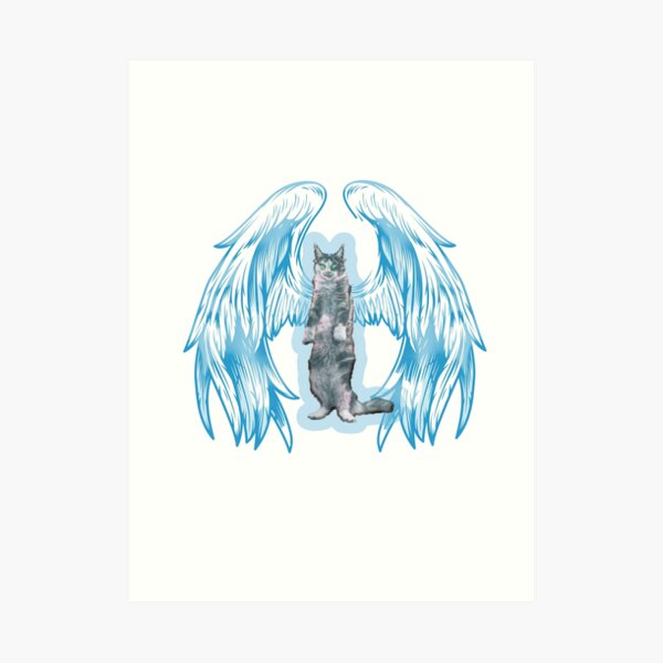 angel cat for new 2021 to creat a new style for valantain day its fanny lovely then olders Art Print