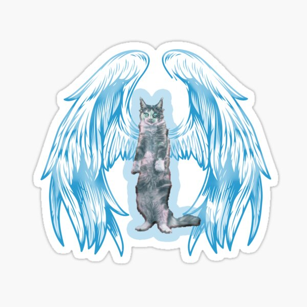 angel cat for new 2021 to creat a new style for valantain day its fanny lovely then olders Sticker