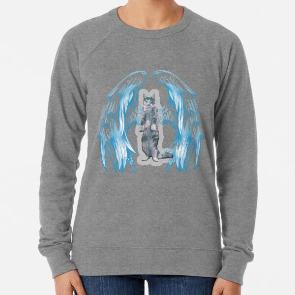 angel cat for new 2021 to creat a new style for valantain day its fanny lovely then olders Lightweight Sweatshirt
