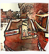 Narrow Boat Ilford Poster
