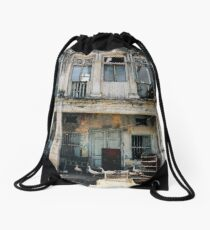 Decaying Colonial Building Drawstring Bag