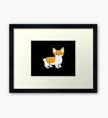 Skeeter the Corgi-Black Framed Print