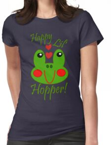 Happy Lil Hopper! Girl Womens Fitted T-Shirt