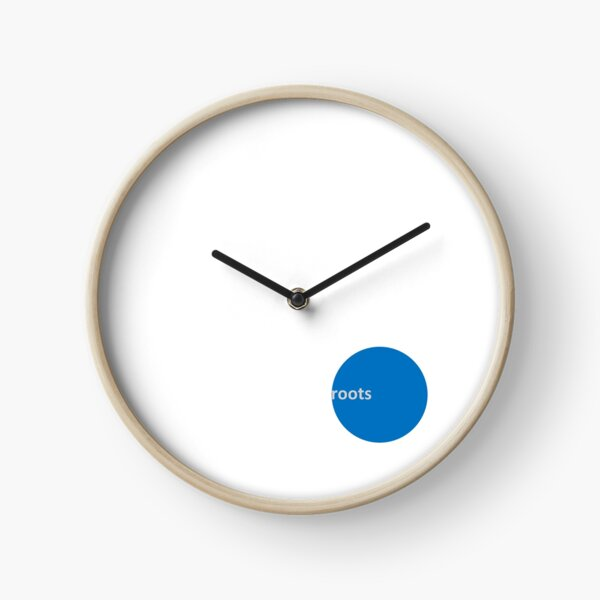 Blue Dot ROOTS CLIMBING Logo Clock