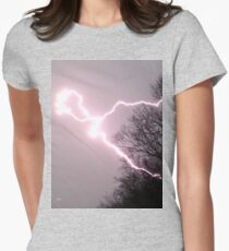lightning in the woods Womens Fitted T-Shirt