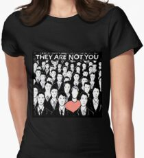 they are not you Women's Fitted T-Shirt