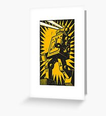 Black Robot Greeting Card