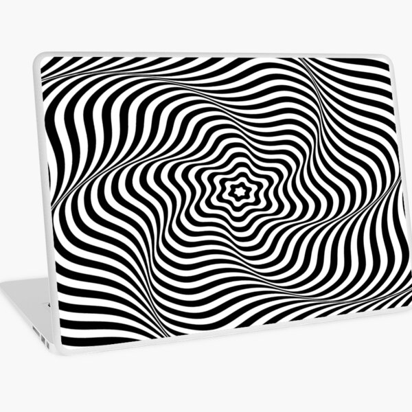 Op art wavy rotary movement - Optical illusion: Wavy Rotary movement Laptop Skin