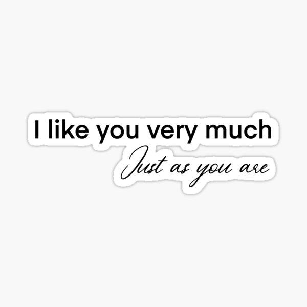 Bridget Jones' Diary - I like you very much  Sticker