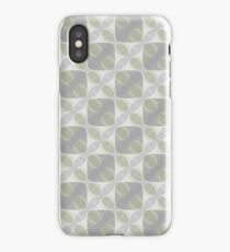 Light Gold and Graphite (pattern #3027) iPhone Case/Skin
