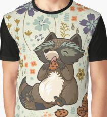 Funny little raccoon eating cookies Graphic T-Shirt