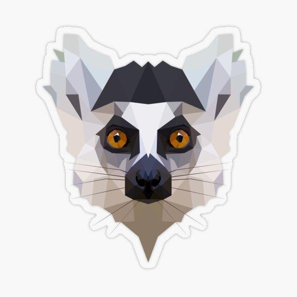 Lémur Pegatina transparente