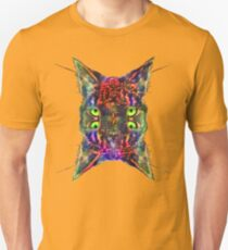 Artificial neural style Space galaxy mirror cat Slim Fit T-Shirt