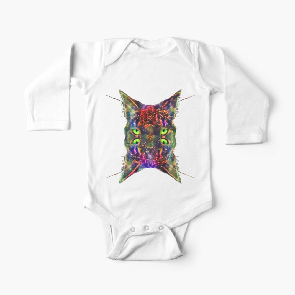 Artificial neural style Space galaxy mirror cat Baby One-Piece