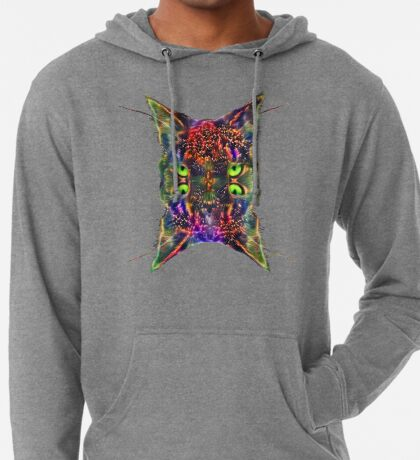 Artificial neural style Space galaxy mirror cat Lightweight Hoodie