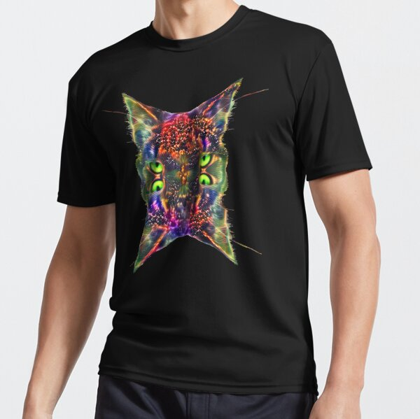 Artificial neural style Space galaxy mirror cat Active T-Shirt