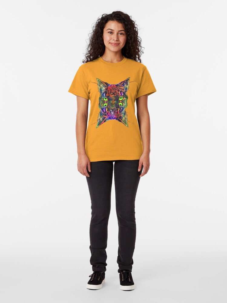 Alternate view of Artificial neural style Space galaxy mirror cat Classic T-Shirt
