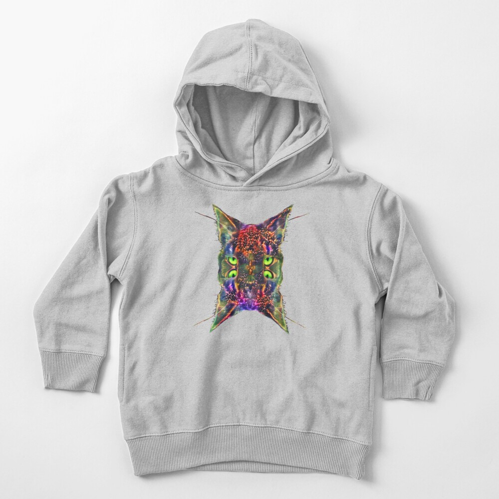 Artificial neural style Space galaxy mirror cat Toddler Pullover Hoodie