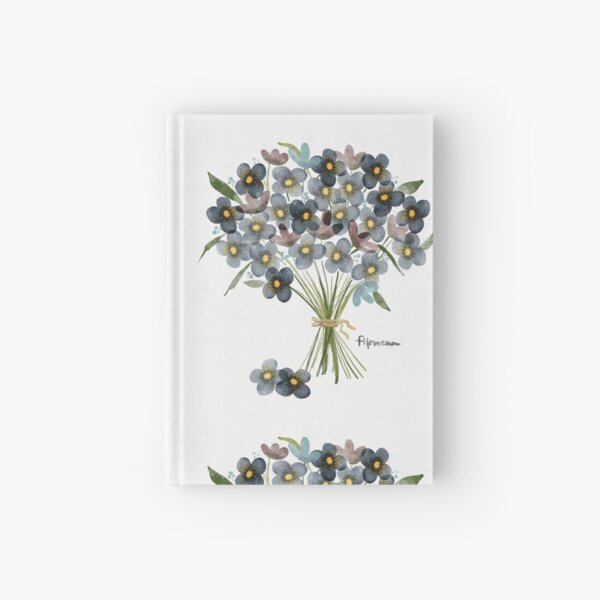 Forget Me Nots Bouquet for a Friend Hardcover Journal