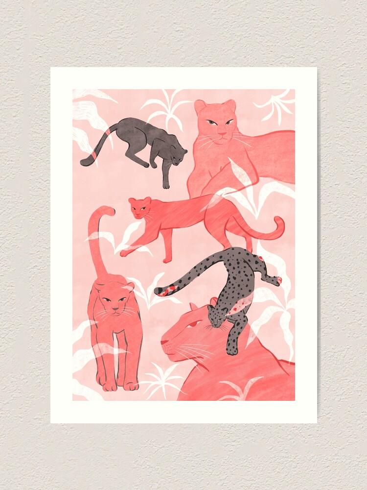Alternate view of Blush & Gray Panthers Art Print