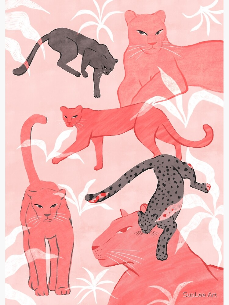 Blush & Gray Panthers by sunleeart