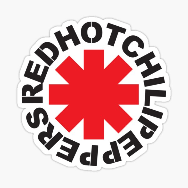 Red Hot Chili Peppers Classic  Sticker