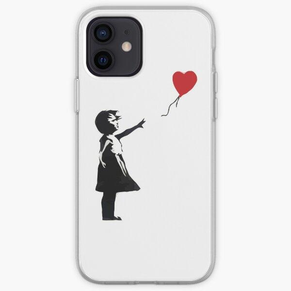 Banksy - Fille avec ballon Coque souple iPhone