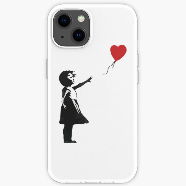 Banksy - Girl with Balloon iPhone Soft Case