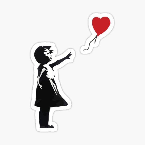 Banksy - Chica con globo Pegatina
