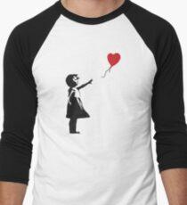 Banksy - Girl with Balloon Men's Baseball ¾ T-Shirt