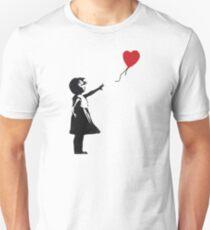 Banksy - Mädchen mit Ballon Slim Fit T-Shirt