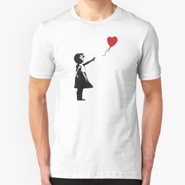 Banksy - Girl with Balloon Slim Fit T-Shirt