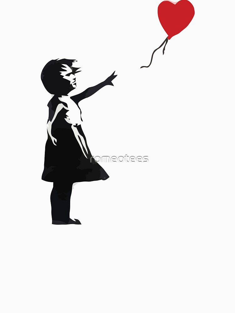 Banksy - Girl with Balloon by romeotees
