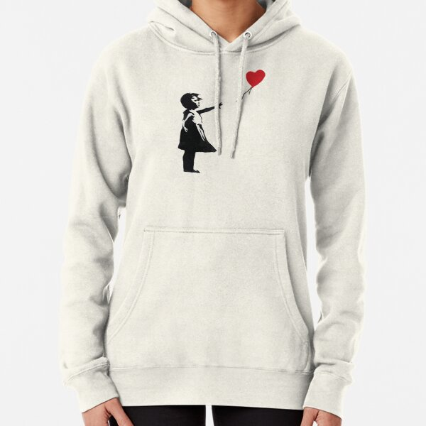 Banksy - Girl with Balloon Pullover Hoodie