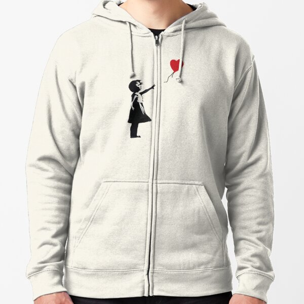 Banksy - Girl with Balloon Zipped Hoodie