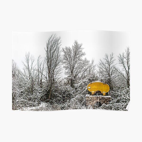 Cistern under the snow. Poster